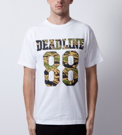 Deadline White Tiger Camo Jersey T-Shirt Model Picutre