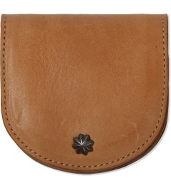 "Deluxe Beige ""Deville"" Leather Coin Case  Picutre"