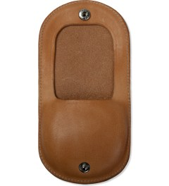 "Deluxe Beige ""Deville"" Leather Coin Case  Model Picutre"