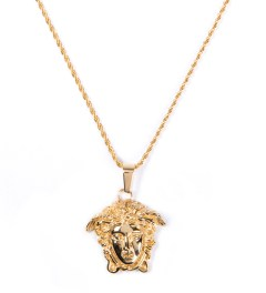 The Sneaker Studio Gold The Medusa Piece Necklace  Picutre