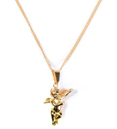 The Sneaker Studio Gold Micro Angel Piece Necklace Picutre