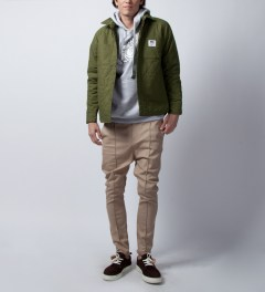 FTC Khaki Reversible Puff Jacket  Model Picutre