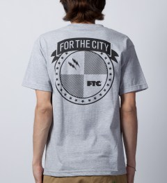 FTC Heather Grey Strike T-Shirt Model Picutre