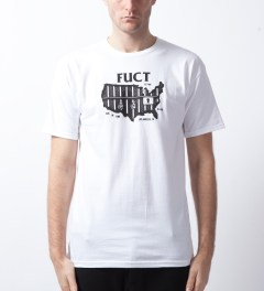 FUCT White Behind Bars T-Shirt  Model Picutre