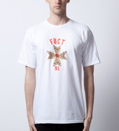 FUCT White Match Cross T-Shirt  Model Picutre