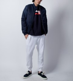 Grungy Gentleman White Grungy Gentleman x Cotton Citizen Quilted Sweatpant Model Picutre