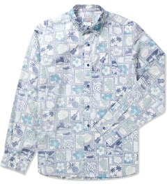 Garbstore White Hawaii Map Pocket Shirt  Picutre