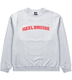 Heel Bruise Heather Grey College Arc Sweater   Picutre