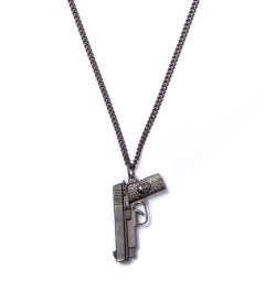 Icon Brand Matte Black Vintage Strapped With That Necklace Picutre
