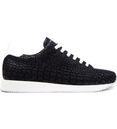 KRISVANASSCHE Black Crocodile Pattern Low Sneakers Picutre