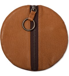 POSTALCO Ochre Brown Pebble Deerskin Full Moon Leather Wallet  Model Picutre