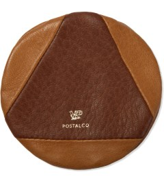 POSTALCO Ochre Brown Pebble Deerskin Leather Coin Case  Picutre