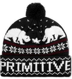 Primitive Black Jolly Bear Pom Beanie  Picutre