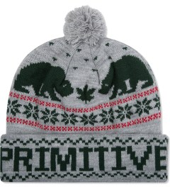 Primitive Heather Grey Jolly Bear Pom Beanie  Picutre