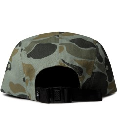 Primitive Green Work Script Camo 5-Panel Cap  Model Picutre