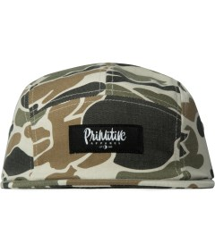 Primitive Grey Work Script Camo 5-Panel Cap Picutre