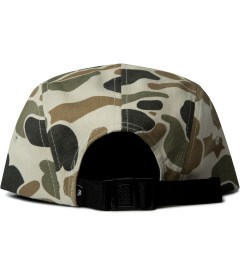 Primitive Grey Work Script Camo 5-Panel Cap Model Picutre