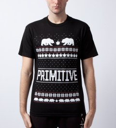 Primitive Black Jolly Bear T-Shirt Model Picutre