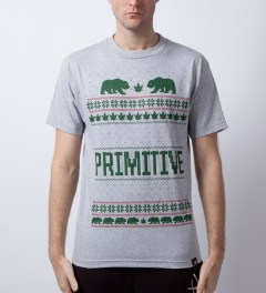 Primitive Athletic Heather Jolly Bear T-Shirt  Model Picutre