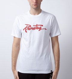 Primitive White Thrashed T-Shirt  Model Picutre