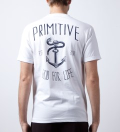 Primitive White Set Sail T-Shirt  Model Picutre