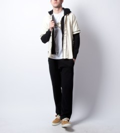 Reigning Champ Black RC-5018 Midweight Twill French Terry Sweatpants Model Picutre