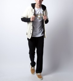 Reigning Champ Black RC-3205 Midweight Twill French Terry Zip Hoodie  Model Picutre
