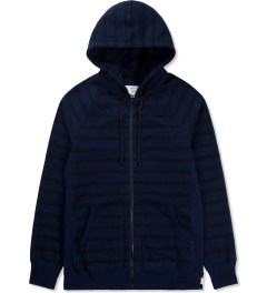 Reigning Champ Navy/Black RC-3216-1 Stripe Terry Hoodie  Picutre