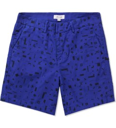 Soulland Blue Craddock Shorts Picutre