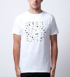 Soulland White Geometrix T-Shirt  Model Picutre