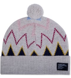 Stussy Heather Grey Spike Pom-Pom Beanie Picutre