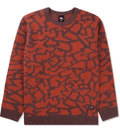 Stussy Brown Cracked Sweater Picutre
