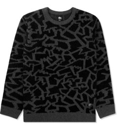 Stussy Black Cracked Sweater Picutre