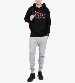 Deadline Black Nautical Flag Pullover Hoodie Model Picutre