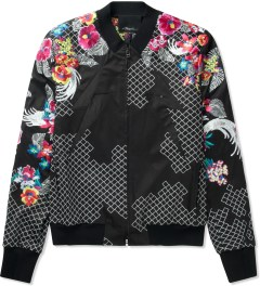 3.1 Phillip Lim Black New Wave Embroidered Zip Up Jacket  Picutre