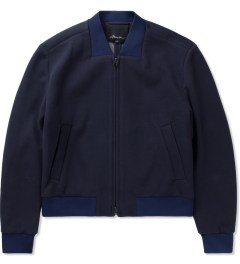 3.1 Phillip Lim Navy Cropped Zip Up Jacket  Picutre
