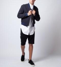 3.1 Phillip Lim White L/S Button Up W/ Seamed Lightning Shirt  Model Picutre