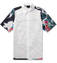 3.1 Phillip Lim Multi W/ Dolman Back Yoke S/S Raglan Button Up Shirt  Picutre