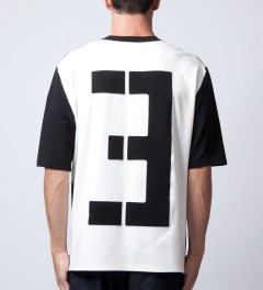 3.1 Phillip Lim Black Patched Number '3' T-Shirt Model Picutre