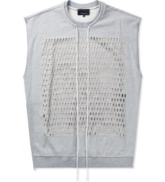 3.1 Phillip Lim Grey Melange Laser Cut Tank W/ Side Seam Zippers Picutre