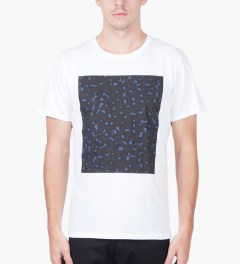 A.P.C. White Leopard Block T-Shirt  Model Picutre