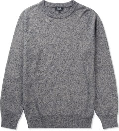 A.P.C. Grey Crew Neck Jumper Picutre