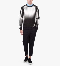 A.P.C. Black Rugby Sweater Model Picutre