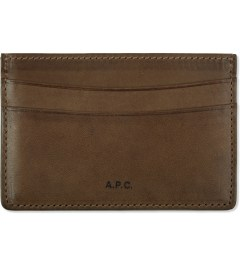 A.P.C. Hazelnut Card Case  Picutre