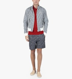 Band of Outsiders Tango Red Trapped Pocket Polo  Model Picutre