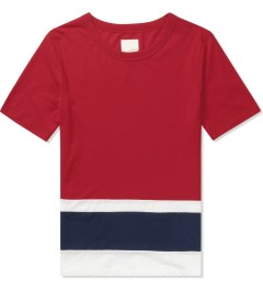 Band of Outsiders Tango Red SS Panel Stripe T-Shirt  Picutre