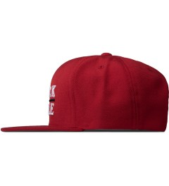 Black Scale Red Black Line Snapback Cap   Model Picutre