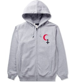 Black Scale Heather Grey Religious Holiday Zip Up Hoodie  Picutre