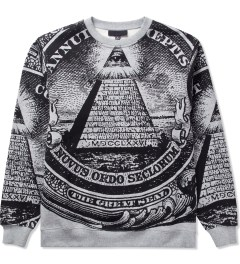 Black Scale Heather Grey Annuit 5 Sweater  Picutre