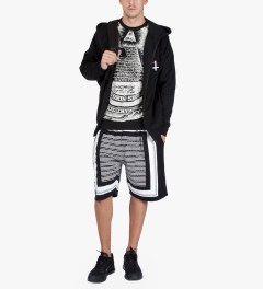 Black Scale Black Religious Holiday Zip Up Hoodie Model Picutre